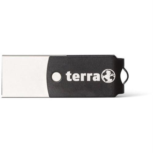 Wortmann AG TERRA USThree A+C USB flash drive 32 GB USB Type-A / USB Type-C 3.2 Gen 1 (3.1 Gen 1) Black, Silver