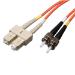 "Tripp Lite N304-006 fiber optic cable 78.7"" (2 m) OFNR 2x SC 2x ST Orange"