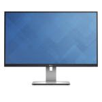 "DELL UltraSharp U2715H 27"" Wide Quad HD LED Matt Black, Silver computer monitor"