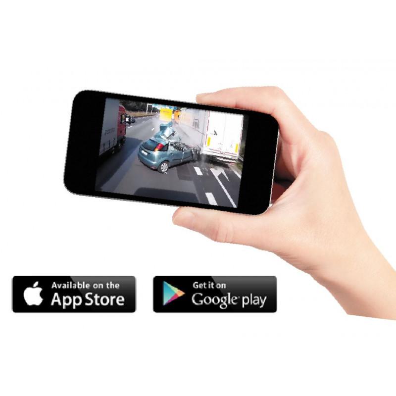 LASER Dual Car Crash Camera with Wi-Fi and GPS