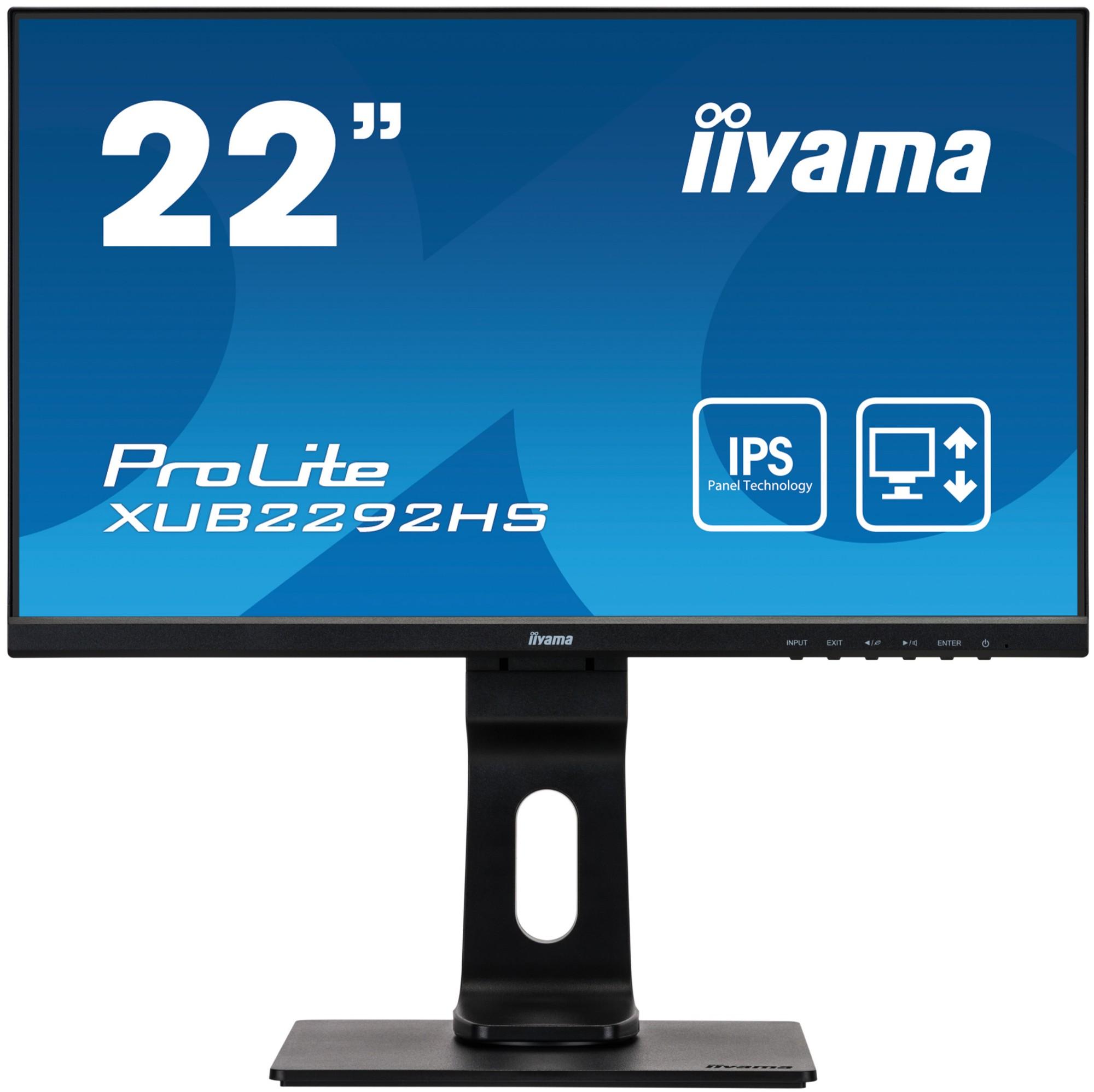 iiyama ProLite XUB2292HS-B1 LED display 54.6 cm (21.5