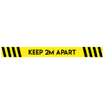 Avery Covid19 Self-Adhesive Floor Sticker Social Distancing 1000x140mm Yellow/Black (Pack 2)