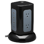 """Tripp Lite TLP606UCTOWER surge protector Black, Gray 6 AC outlet(s) 120 V 96.1"""" (2.44 m)"""