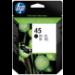 HP 45 Original Negro 1 pieza(s)