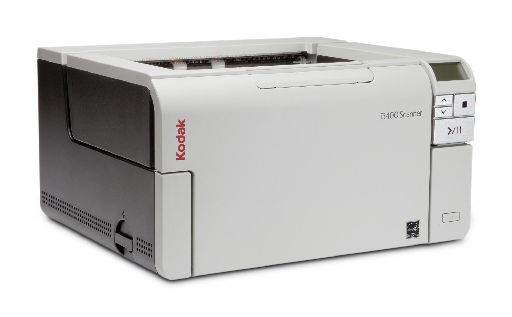 Kodak i3400 Scanner 600 x 600 DPI Escáner con alimentador automático de documentos (ADF) Negro, Gris A3