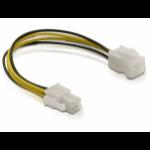 DeLOCK Power cable P4 male/female Multicolour 0.15m