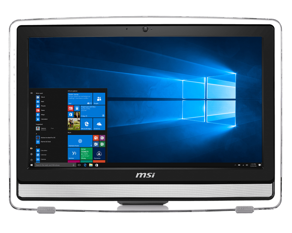 "MSI Pro 22ET 7M-086XEU 3.5GHz G4560 21.5"" 1920 x 1080pixels Touchscreen Black All-in-One PC"
