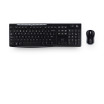 Logitech MK270 RF Wireless QWERTY Italian Black
