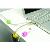 D-Line CABLE TIDY BASES 6PK SELF ADHESIVE