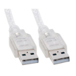 8WARE USB 2.0 Cable 2m A to A Male to Male Transparent