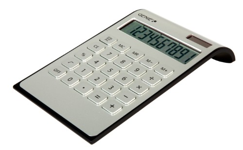 Genie DD400 calculator Desktop Basic Black, Silver