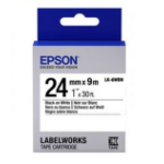 Epson C53S656101 Black on white label-making tape