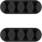 Microconnect CABLEMANA-16 cable organizer Cable holder Floor Black 2 pc(s)