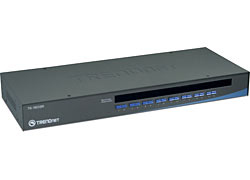 Trendnet 16-Port USB/PS/2 Rack Mount KVM Switch interruptor KVM Montaje en rack Negro