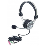 Manhattan 175517 headset Binaural Head-band Grey