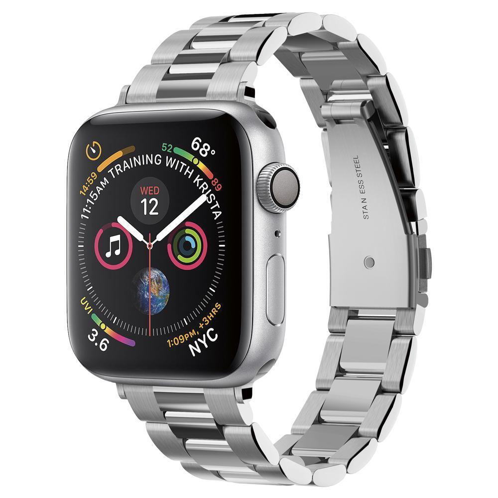 Spigen 061MP25943 smartwatch-accessoire Band Zilver Roestvrijstaal