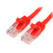 StarTech.com 6 ft Cat5e Red Snagless Crossover RJ45 UTP Cat5e Patch Cable 6ft Patch Cord