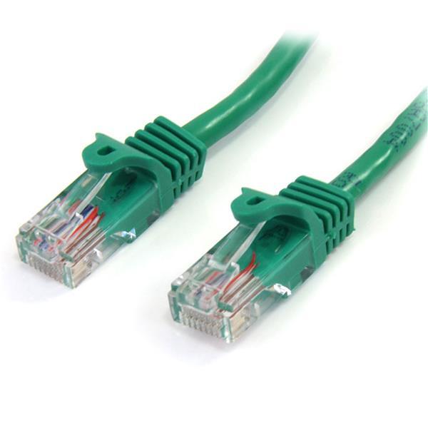 StarTech.com Cable de 1m Verde de Red Fast Ethernet Cat5e RJ45 sin Enganche - Cable Patch Snagless