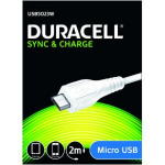 Duracell 2m USB - microUSB 2m USB A Micro-USB A White USB cable