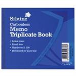 Silvine CARBONLESS TRIPLICATE MEMO 707