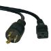 Tripp Lite P040-014 4.27m C19 coupler NEMA L6-20P Black power cable