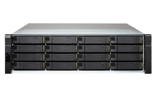 QNAP EJ1600-v2 16TB (Seagate Exos SAS) 16-Bay SAS 12Gb/s JBOD Enclosure for Enterprise ZFS NAS- 2 Mini-SA disk array Rack (3U) Black, Grey