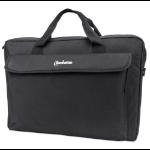 "Manhattan London Laptop Bag 17.3"", Top Loader, Accessories Pocket, Shoulder Strap (removable), Notebook Case, Black, Three Year Warranty"