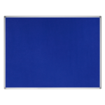 Bi-Office Earth-It Blue Felt Noticeboard Alu Frame 90x60 DD