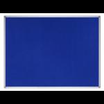 Bi-Office Earth-It Blue Felt Noticeboard Aluminium Frame 900x600mm DD