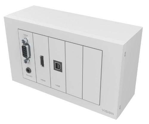 Vision TC3-PK+PK3MCABLES outlet box White