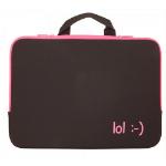 """Urban Factory Laptop Sleeve 15"""" Fuschia """"lol"""" lettering"""