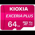 Kioxia Exceria Plus memory card 64 GB MicroSDXC UHS-I Class 10 LMPL1M064GG2