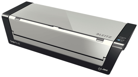 Leitz iLAM Touch Turbo Pro Hot laminator Black, Silver