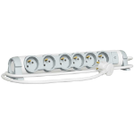 C2G 80819 Indoor 6AC outlet(s) 1.5m Grey,White power extension