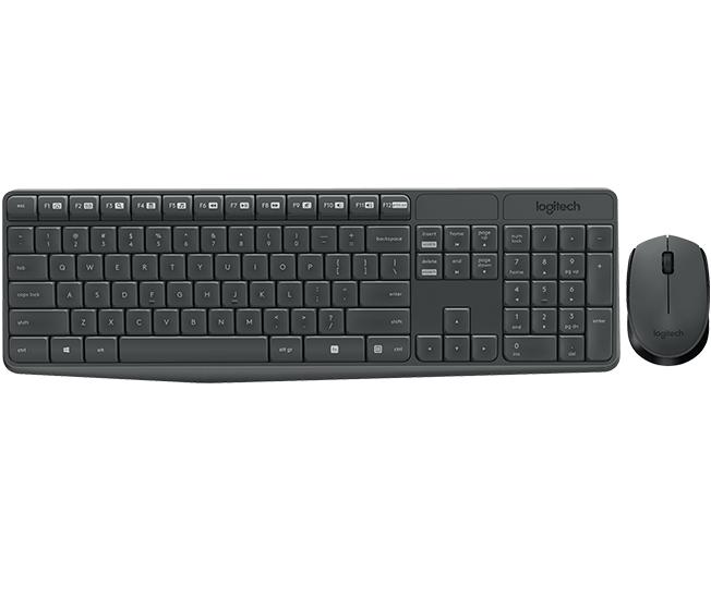 Logitech MK235 keyboard RF Wireless Portuguese Black