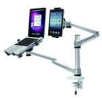 Newstar Desk Mount (clamp) for Laptop & Tablet, Height Adjustable - Silver