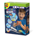 SES Creative Children's Explore Rainbow Worms Lab  Experiment Kit, Unisex, 8 Years or Above, Multi-colour (25111)