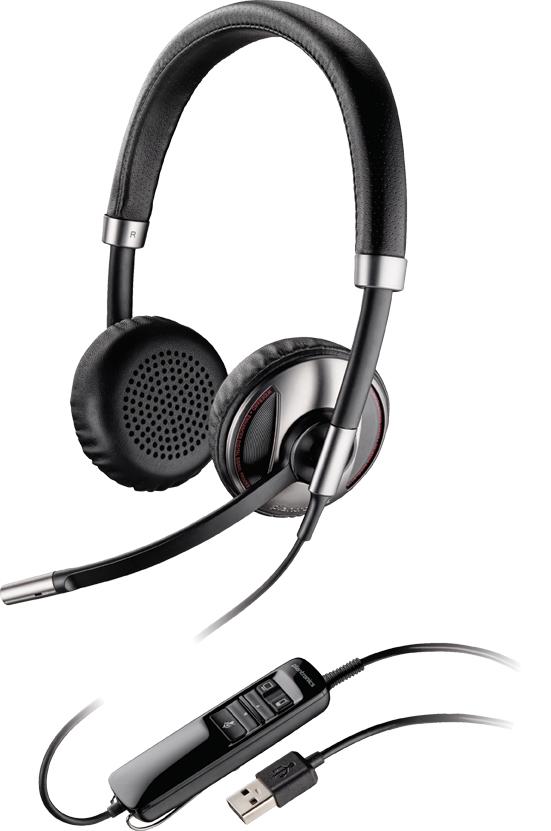 Plantronics C720 Binaural Head-band Black headset