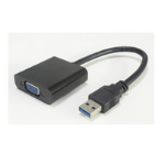 Microconnect USB 3.0-VGA M/F USB 3.0 VGA Black cable interface/gender adapter