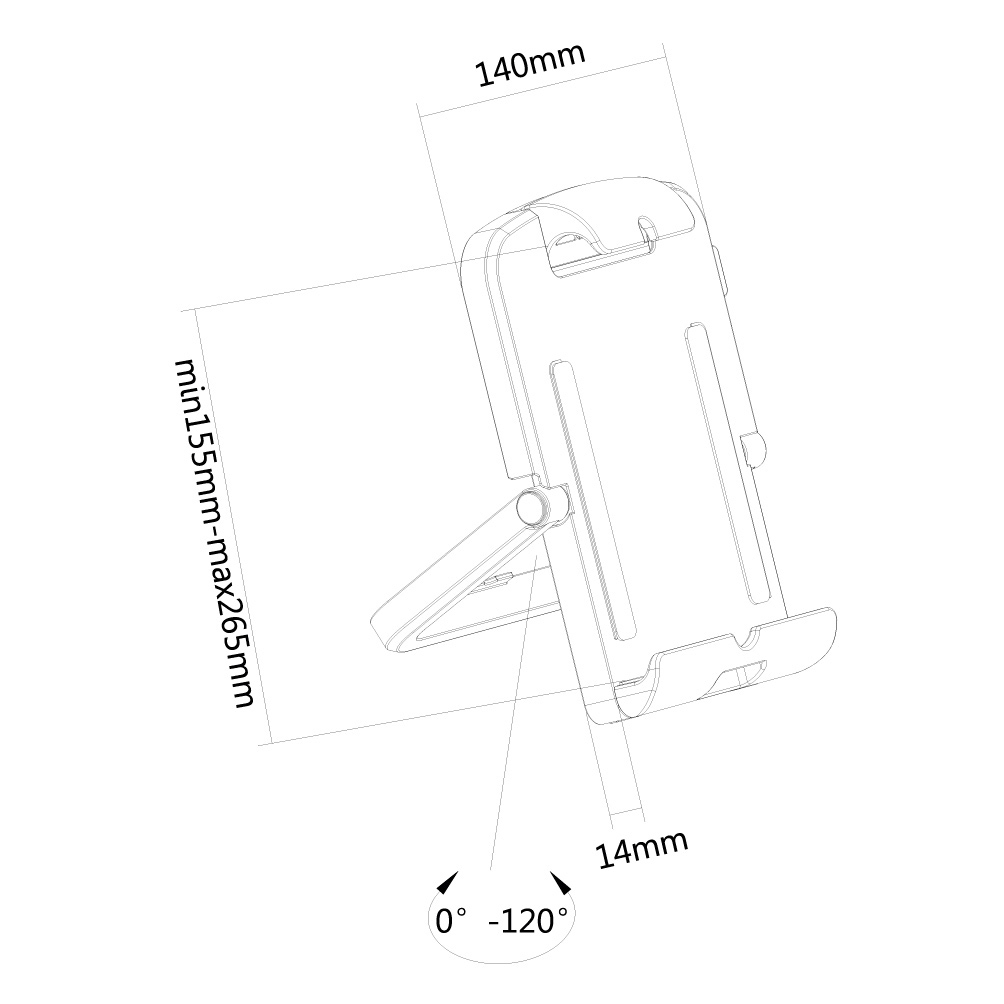 "Newstar TABLET-UN200WHITE tablet holder for 7""-10.1"" tablets"