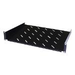 Cablenet 2u 300mm Cantilever Vented Shelf Black (450mm Cab) (20Kg)