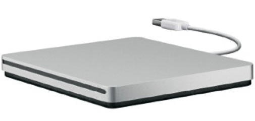 Apple USB SuperDrive unidad de disco óptico Plata DVD±R/RW
