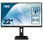 "AOC Pro-line 22P1D LED display 54.6 cm (21.5"") 1920 x 1080 pixels Full HD Flat Matt Black"