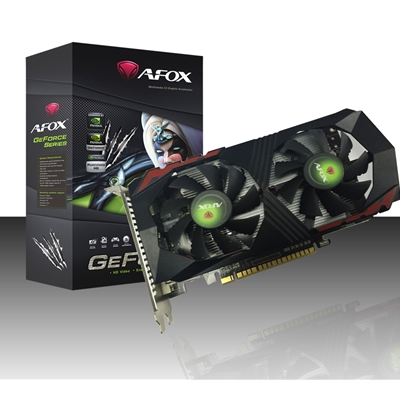 AFOX GeForce GTX1050 2GB 128bit GDDR5 PCI-E Dual Fan Graphics Card