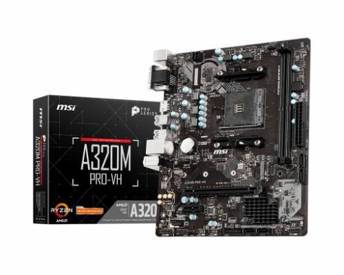 MSI A320M PRO-VH motherboard AMD A320 Socket AM4 micro ATX