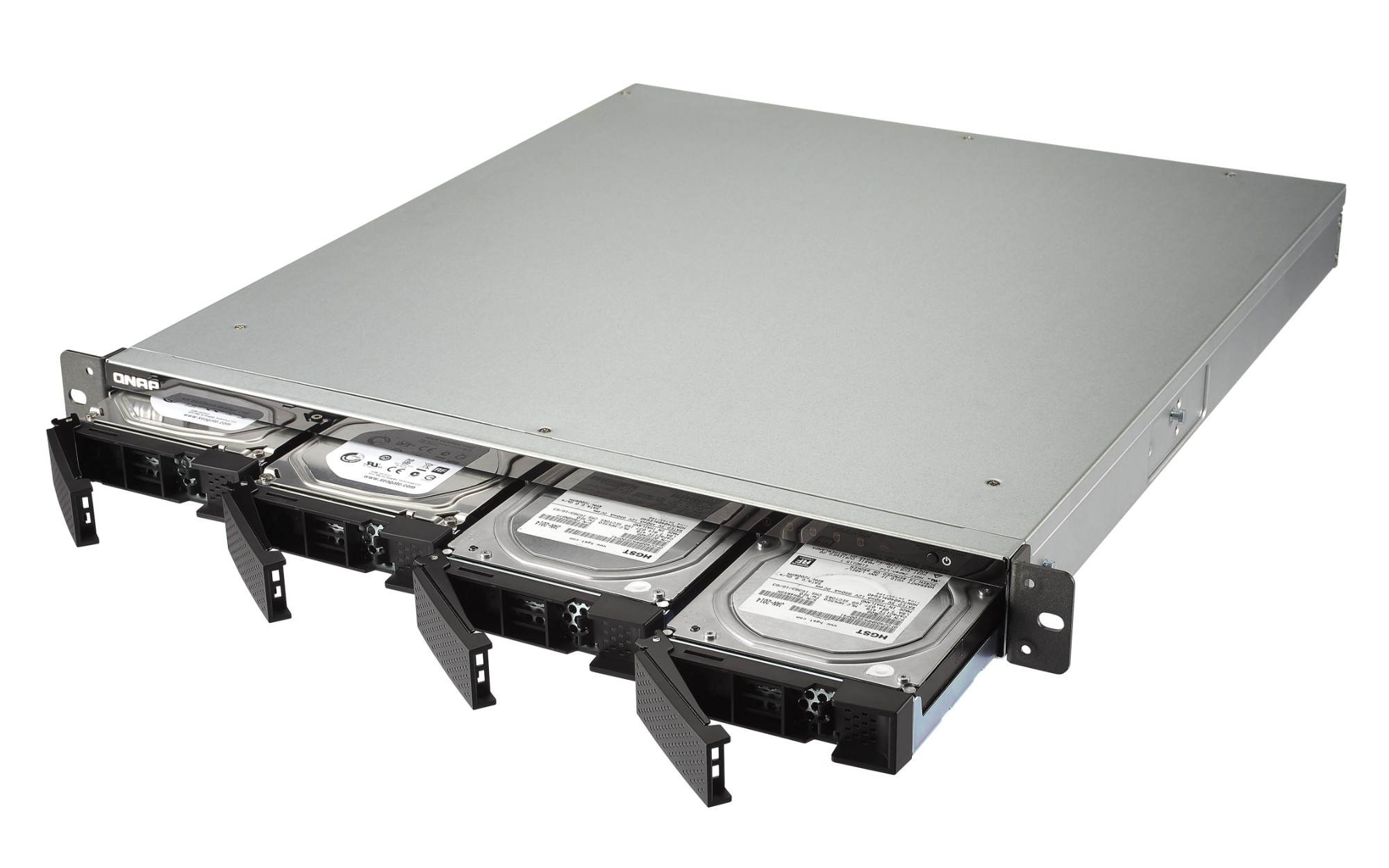 QNAP TS-453BU-RP-4G 24TB 4x6TB Seagate IronWolf Pro 4 Bay NAS Rackmount  Ethernet LAN Rack (1U) Black,Grey