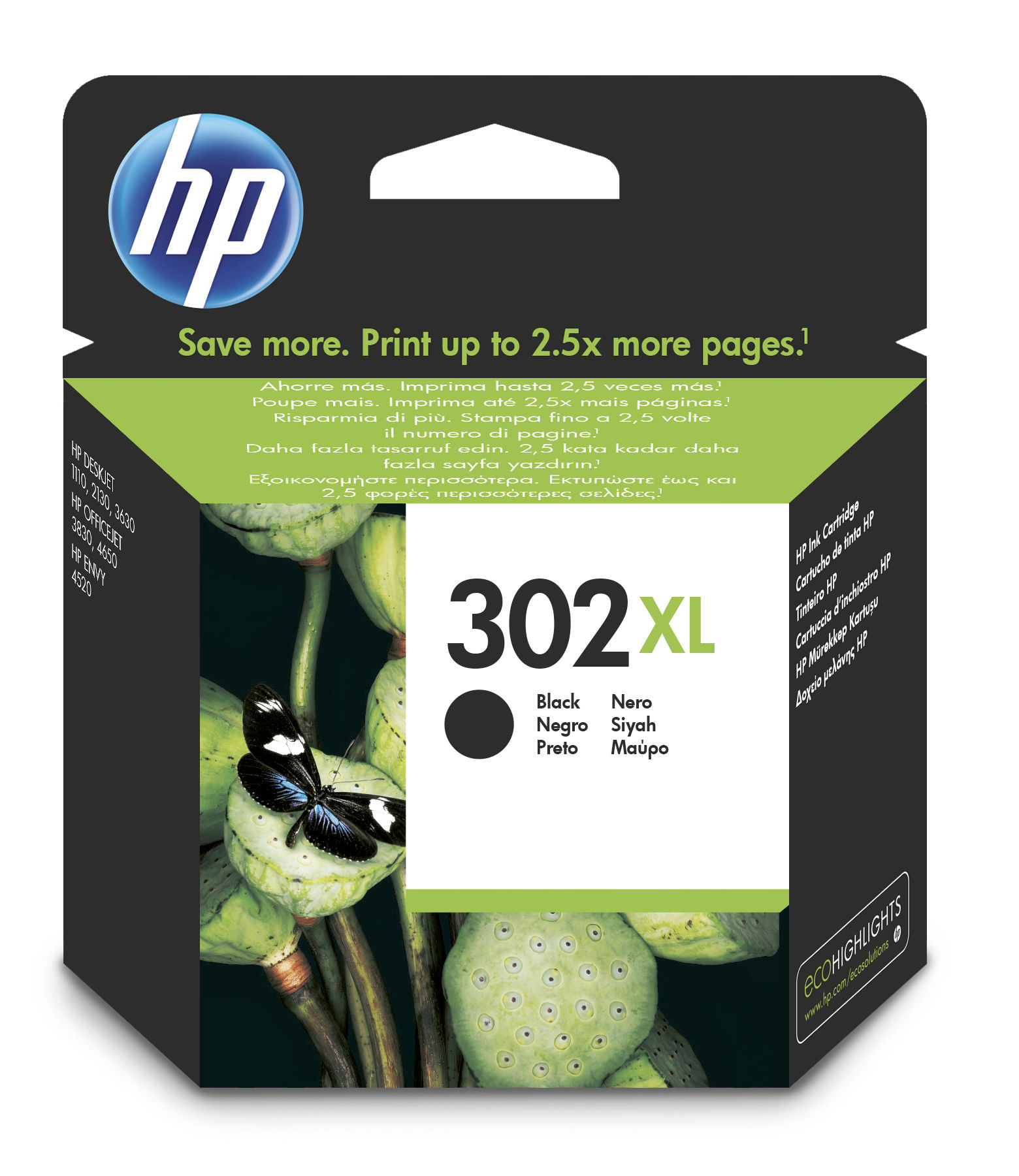 HP 302XL Original Negro 1 pieza(s)