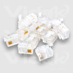 Videk RJ11 4 Way Crimp Plug - 50 Pack RJ11 wire connector