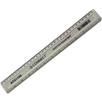 Q-Connect Shatterproof 300mm White Ruler