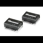 Aten VE801 AV extender AV transmitter & receiver Black